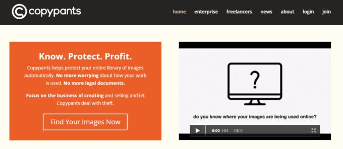 Web上で写真や画像が盗用されたら自動で知らせてくれるツール『copypants』