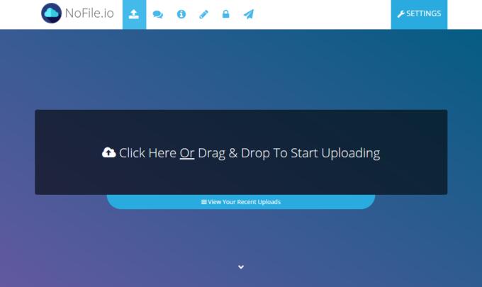 10GBまでのファイルを無料で高速アップロード、暗号化して共有できる『NoFile.io』