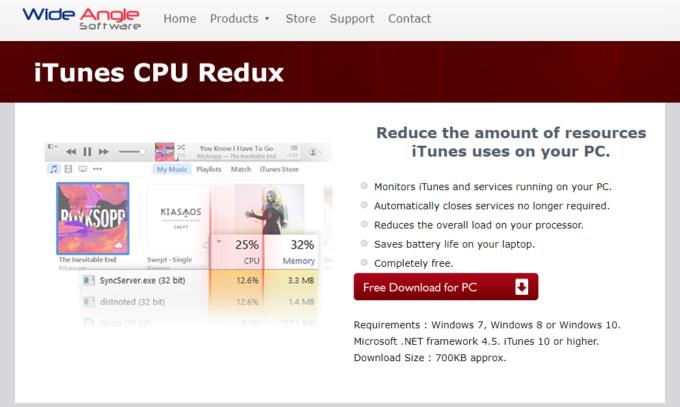 WindowsでiTunes使用中のCPU使用率を下げることができるフリーソフト「iTunes CPU Redux」