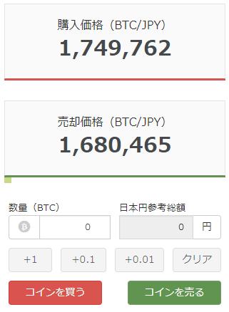 bitFlyerのビットコイン販売所